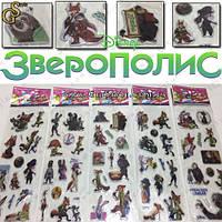 """Наклейки Зверополис - """"Zootopia Set"""" - 5 листов"""