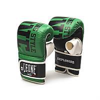 Снарядные перчатки из натуральной кожи Explosion Leone зеленый