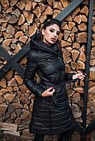 Стильное демисезонное стеганое пальто