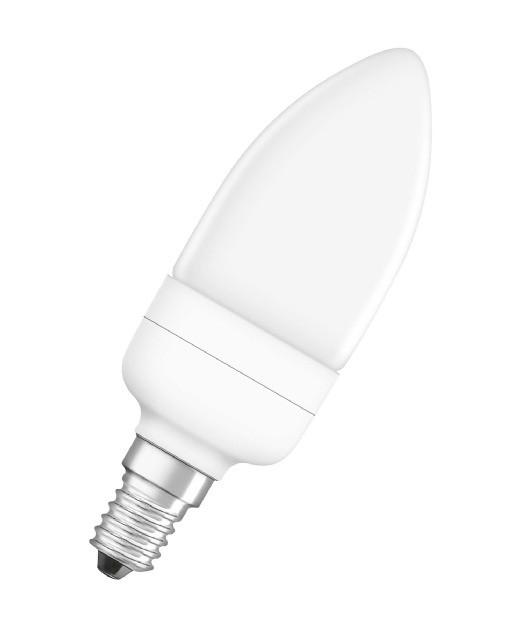 Лампы энергосберегающие Свеча OSRAM DULUXSTAR CANDLE