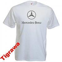Футболки с печатью марки машины Mercedes-Benz