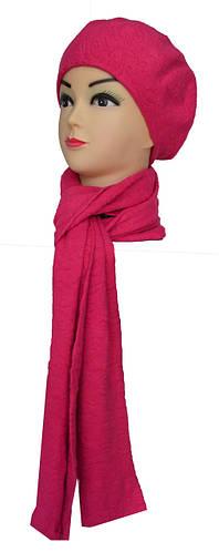 Набор шарф и шапка женские узор
