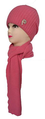 Набор шарф и шапка женские украшение
