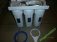 Система очистки воды под мойку,тройная. + фильтры