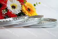 Флористическая лента серебро 0.9см кайма серебро