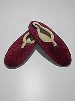 Тапочки домашние женские зимние бордовые размер 36,40