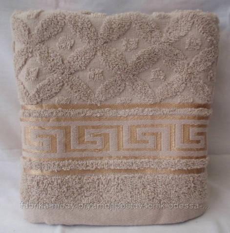 Модное махровое полотенце. Размер: 1,0 x 0,5