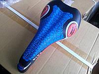 Седло для велосипеда спортивное синее.