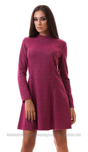 Платье женское горло стойка