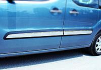Peugeot Partner Tepee 2008+ г Молдинг дверной (4 шт, нерж) Carmos - Турецкая сталь