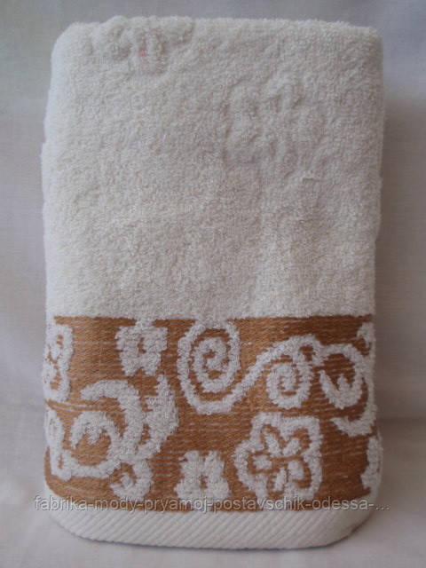 Стильное махровое полотенце. Размер: 1,0 x 0,5