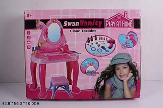 Туалетный столик зеркало подсветка стул фен аксессуары для девочоки