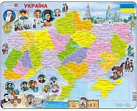 Пазл Larsen Карта Украины. История 82 элемента (K62)