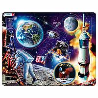 Пазл Larsen из серии Макси Путешествие на Луну. Аполлон-11, 50 элементов (NB5)