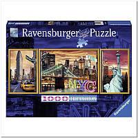 Пазл Ravensburger Триптих Сияющий Нью-Йорк 1000 элементов (RSV-199952)