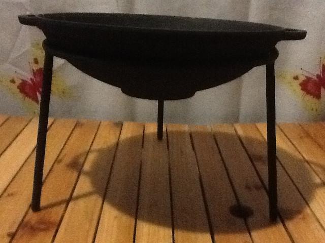 Сковорода вок чугунная  300х90мм «Ситон» с подставкой
