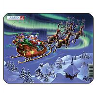 Пазл Larsen из серии Мини Дед Мороз и северное сияние 6 элементов (Z5)
