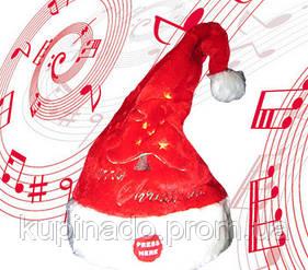 Новогодняя шапка Санта Клауса танцующая