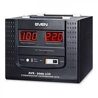 Стабилизатор напряжения SVEN AVR-3000 LCD (УЦЕНКА)