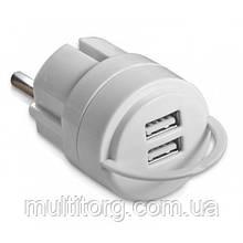 Зарядное USB-устройство REAL-EL CH-2U белое