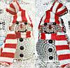 """Светодиодный светильник """"новогодний снеговик"""" 8см."""