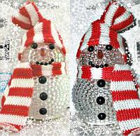 """Светодиодный светильник """"новогодний снеговик"""" 8см. , фото 1"""