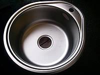 Мойка кухонная Platinum 49х44см покрытие дэкор.