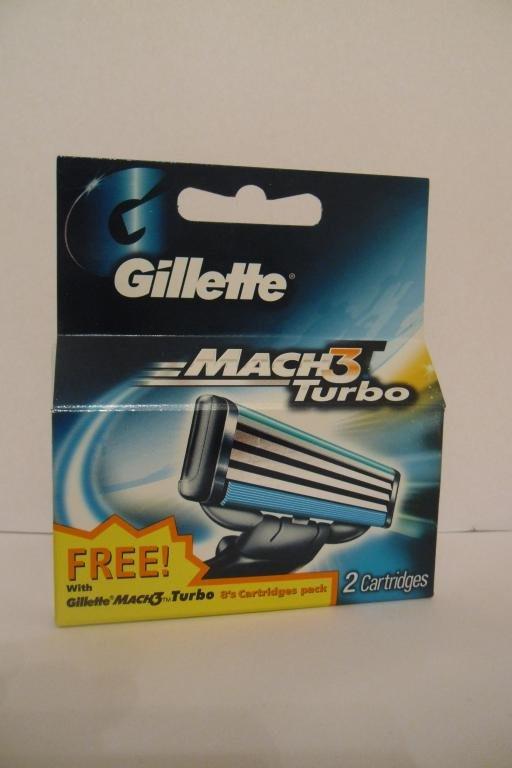 Катрiджі для гоління Gillette Mach3 Turbo  2шт. оригiнал