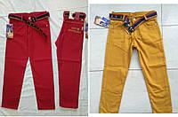 Котоновые брюки джинсы чиносы на мальчика  6-13