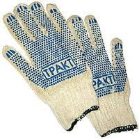 Рабочие перчатки с ПВХ точкой «Тракт» 550 гр.