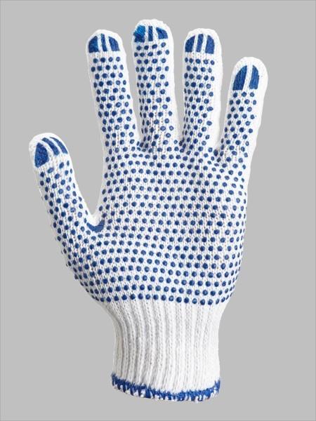 Рабочие перчатки с ПВХ точкой двухстороннии 750 гр.