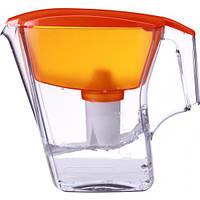 Фильтр - кувшин для воды Аквафор Лаки (2,8 л), оранжевый, 1 комплект.