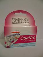 Катріджі для гоління жіночі  Schick Quattro For Women 3шт.  Німеччина