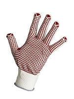 Перчатки трикотажные нейлоновые с ПВХ точкой (женская перчатка)