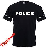 Футболка с печатью Police Полиция 100% хлопок