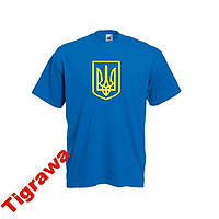 Патріотична футболка Тризуб Герб України бавовна a9bc963dc66f0