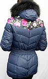Пуховик женский теплый Macka Angel с воротником - енот, фото 2