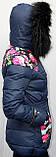 Пуховик женский теплый Macka Angel с воротником - енот, фото 4
