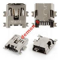 Коннектор зарядки MIni USB тип №2