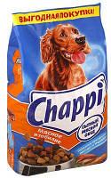 Chappi (Чаппи) сухой корм для взрослых собак Мясное изобилие с говядиной и курицей 13,5 кг