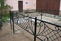 Оградка на кладбище кованая арт.рт 11, фото 1