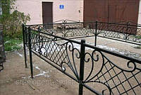 Оградка на кладбище кованая арт.рт 11