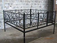 Оградка на кладбище кованая арт.рт 12