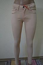Цветные женские брюки БЕЖЕВЫЕ 3128