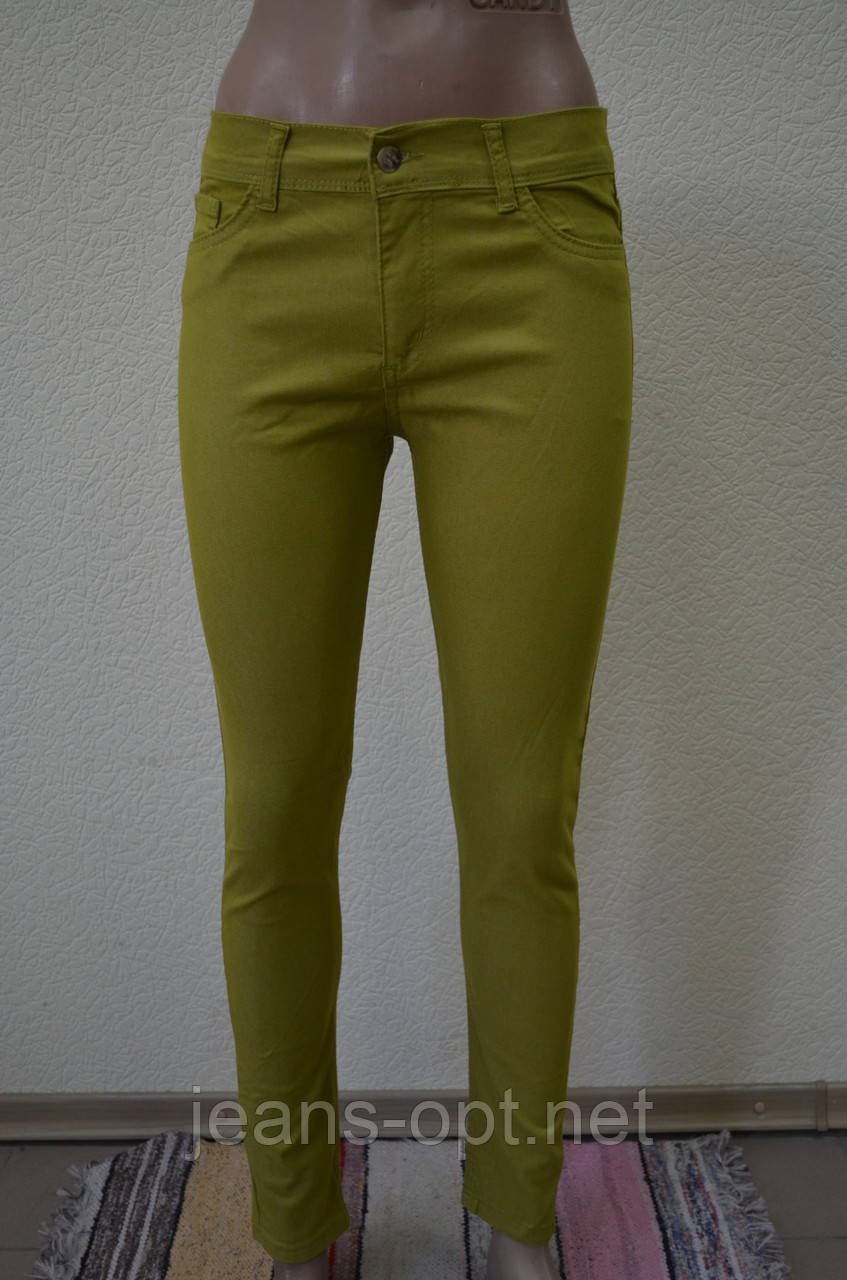 Цветные женские брюки ХАКИ 3009