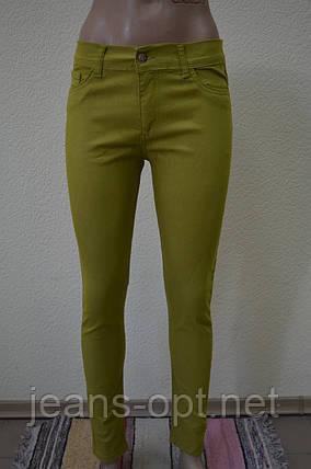 Цветные женские брюки ХАКИ 3009, фото 2