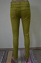Цветные женские брюки ХАКИ 3009, фото 3