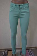 Цветные женские брюки МЯТА- 3055