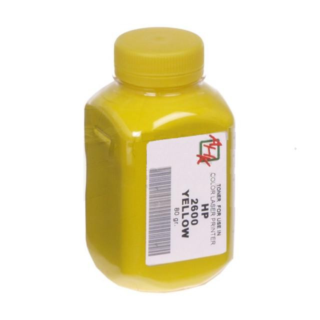 Тонер АНК для HP CLJ 1600/2600/2605 бутль 80 г Yellow (1500820)