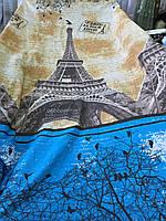 Ранфорс с 3д-рисунком Париж с Эйфелевой башней
